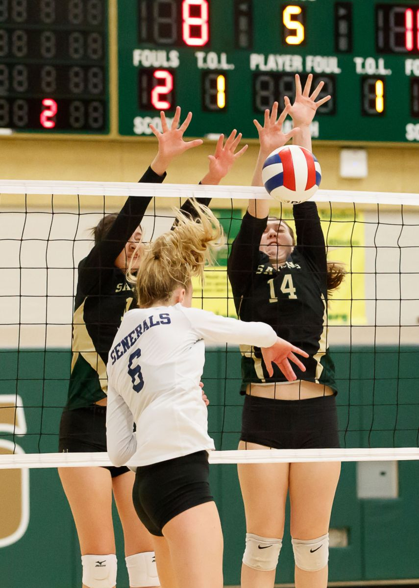 Langley Saxons volleyball 1