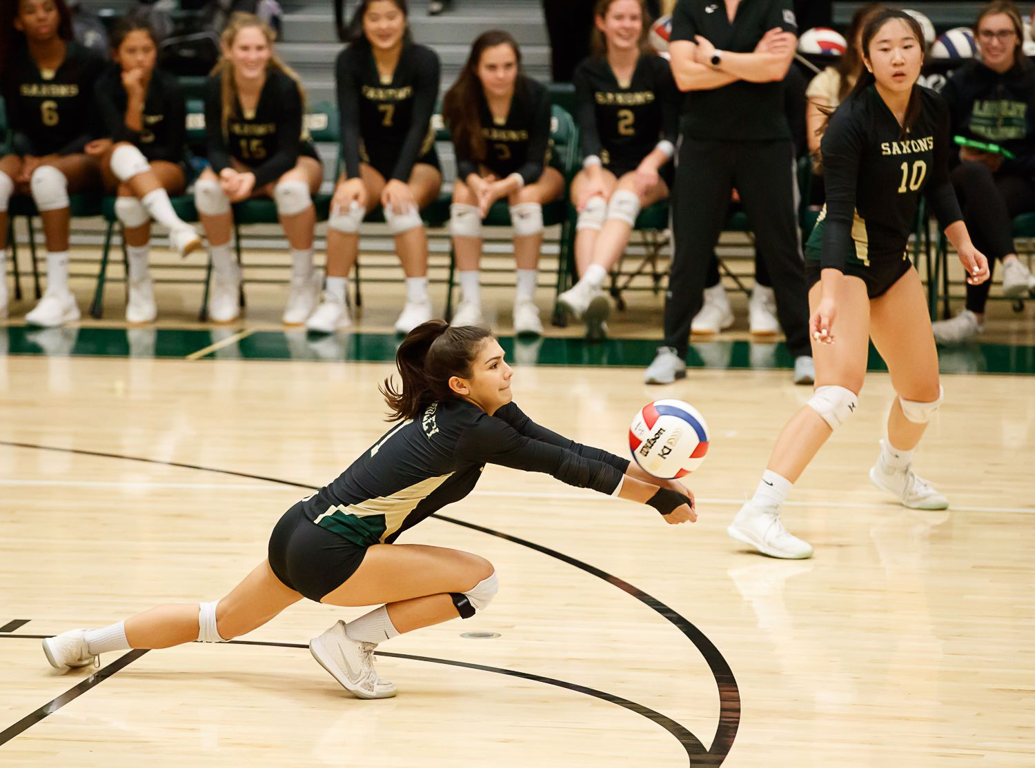 Langley Saxons volleyball 10