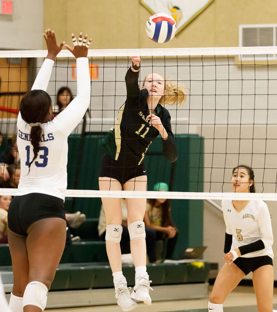 Langley Saxons volleyball 15